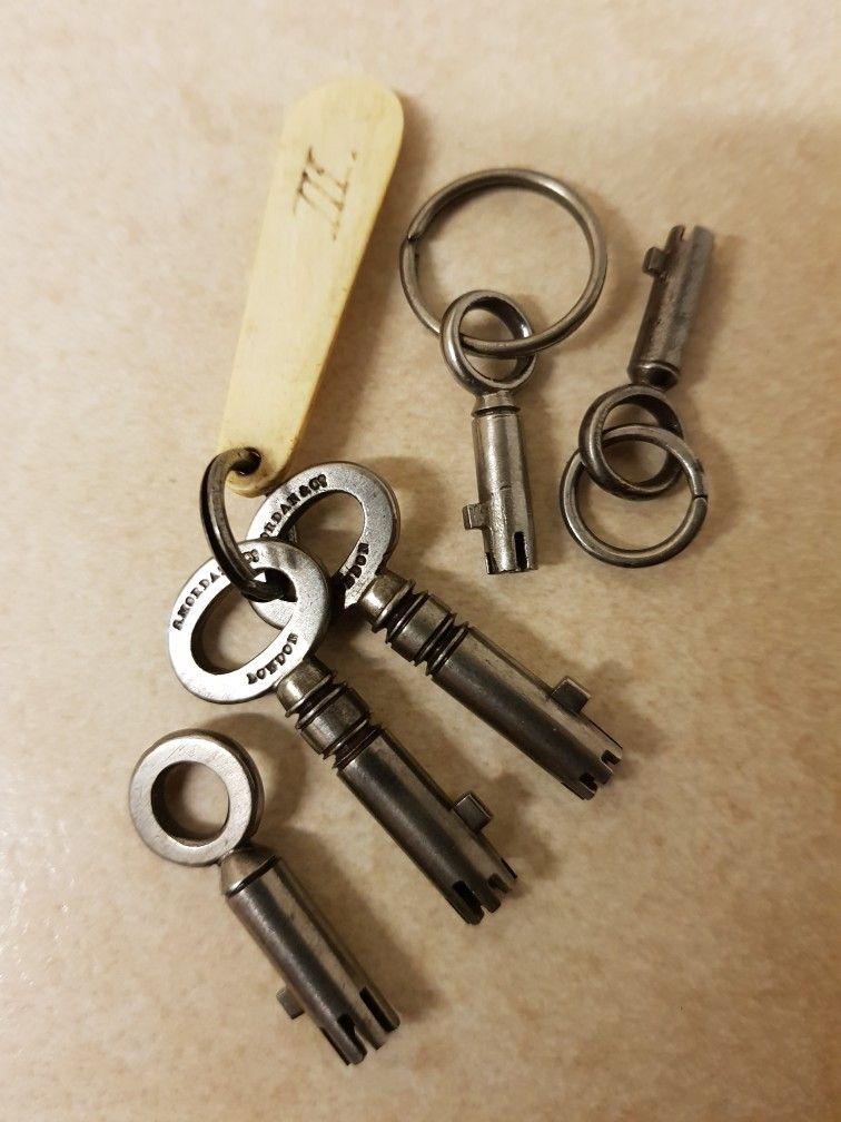 Jewellery Box Locks : jewellery, locks, Bramah, Keys., Uploaded, Theron, Vintage, Jewelry