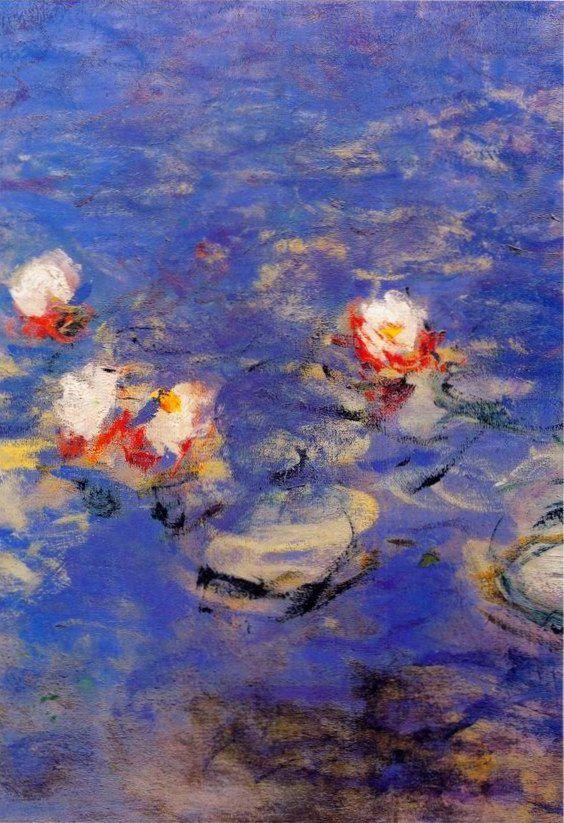 Water lilies detail ~ Claude Monet ART Pinterest Claude monet
