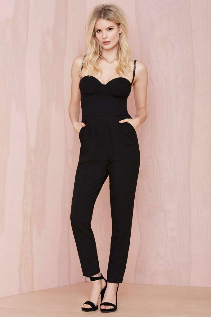 99201a4e2f06 Nasty Gal Pitch Dark Sweetheart Jumpsuit