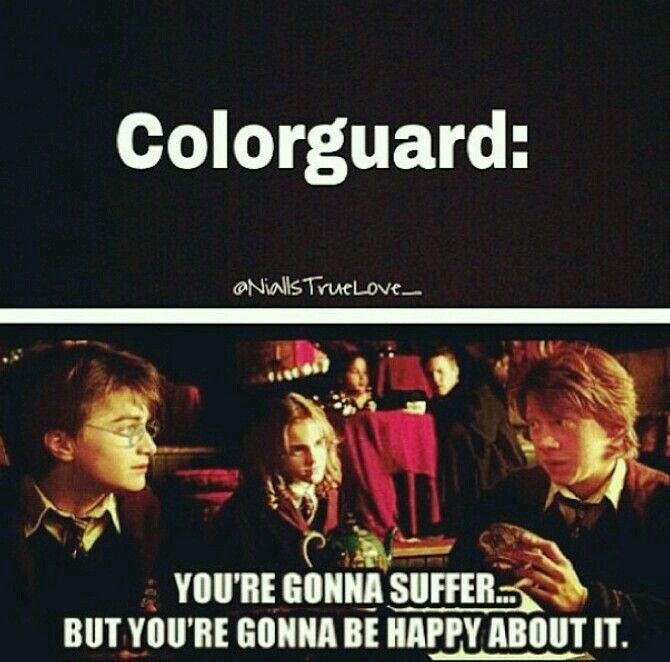 Two Of My Favorite Thing Together Harry Potter And Color Guard Color Guard Quotes Color Guard Colour Guard