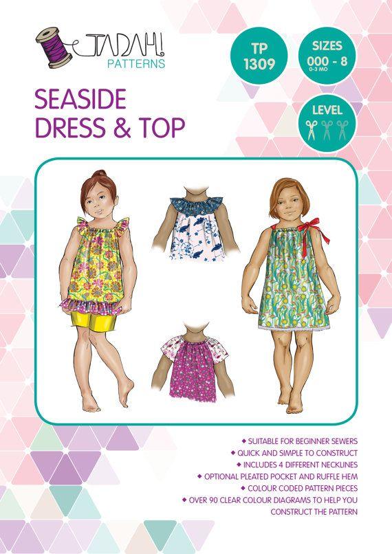cd940288b3f4 PATTERN Seaside Dress   Top - PDF Sewing Pattern - Instant Download ...