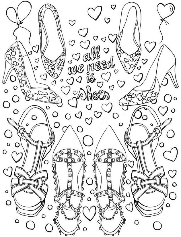 Coloriage Chaussures G 10 Jpg 631 825 Coloring Pages Coloring Books Fashion Coloring Book
