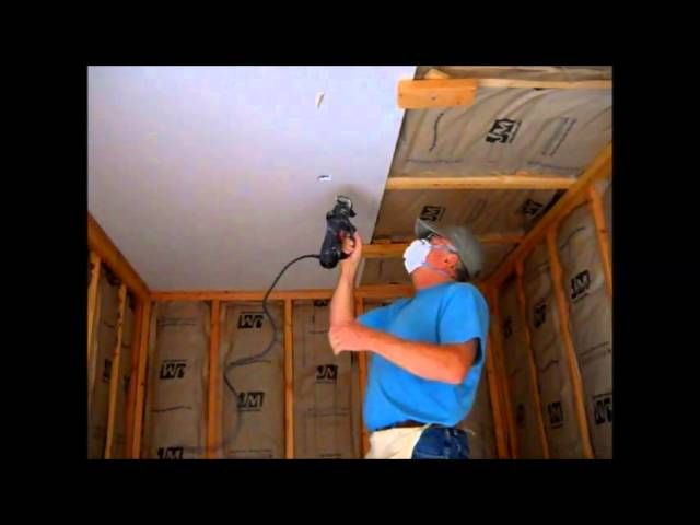 Hang Drywall On The Ceiling By Yourself Hanging Drywall Drywall Installation Drywall