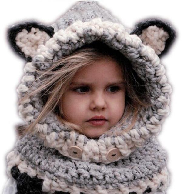c20281e36561 New Design Baby Hats   Caps Cat Ear Fox Winter Beanie Hats Baby Kids ...