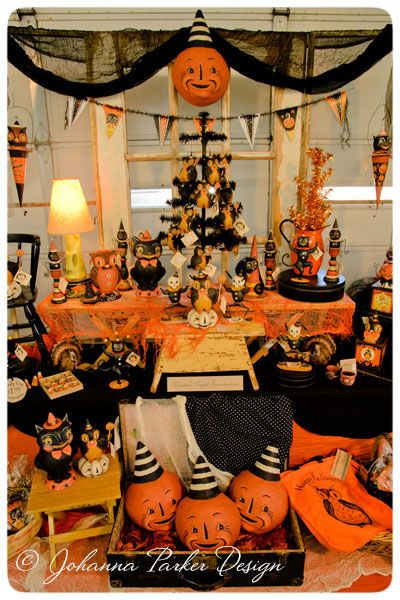 Johanna-Parker-Halloween-Backdrop Halloween Decorating Pinterest - halloween decorations vintage