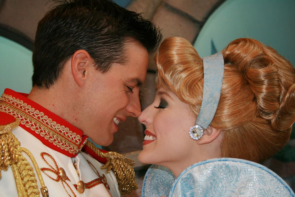 Valentine's Day Cinderella and Charming Disney face