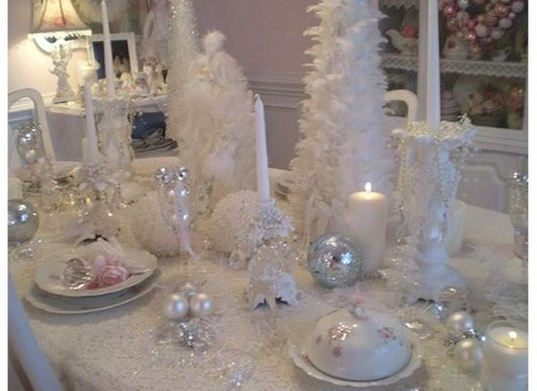 K 111 All White Christmas Table Decorations This Is Exactly The