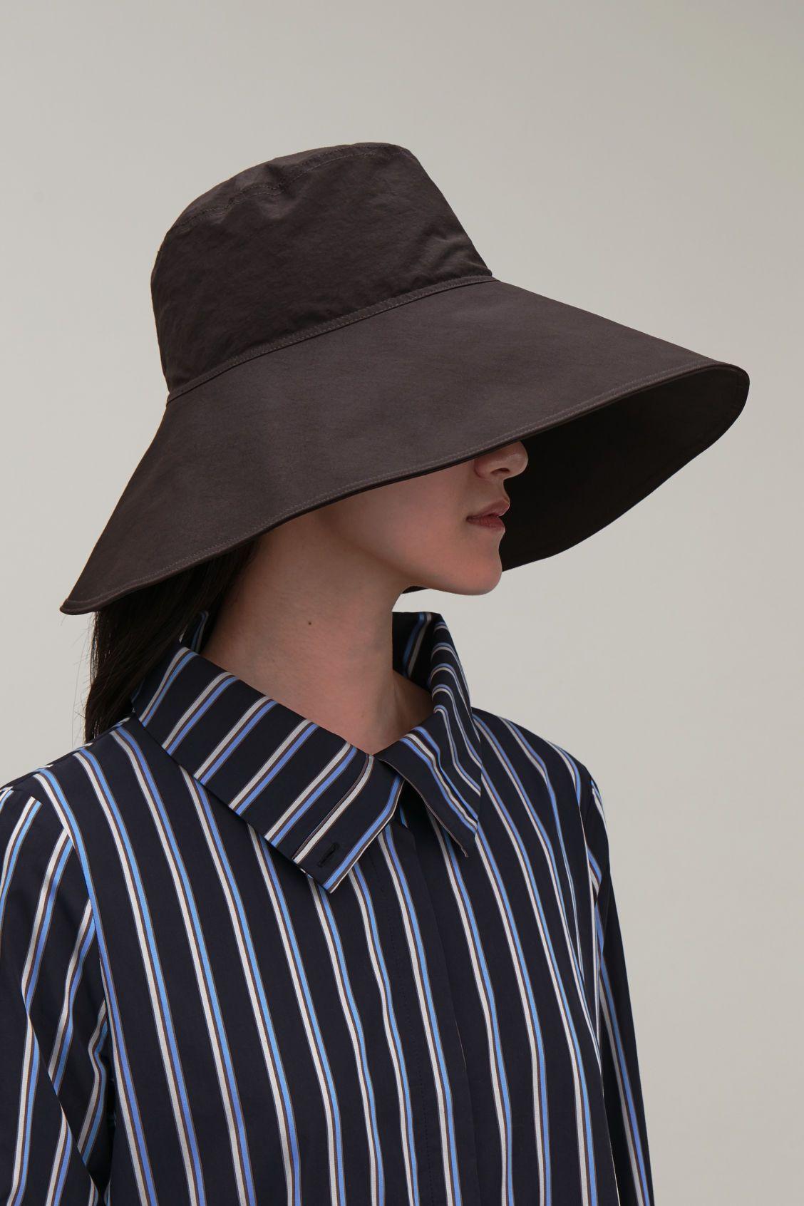 1ed38786100b6f Cos wide-brim hat in burgundy | Style in 2019 | Wide brim hat, Brim ...