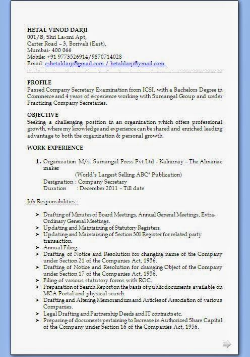 Accounting Resumes Examples Sample Template Example Ofexcellent