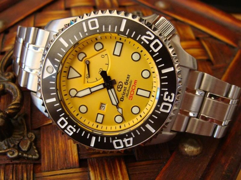 Orient Star 300m Saturation Diver (Yellow Dial). | Watches for men, Sport  watches, Rolex watches