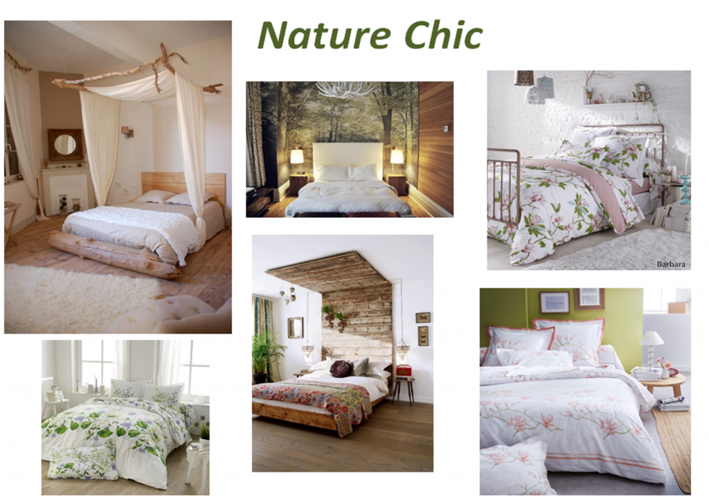 Nature Chic Idée Déco Linge De Lit Chambre Fleuri Décor - Parure de lit design chic