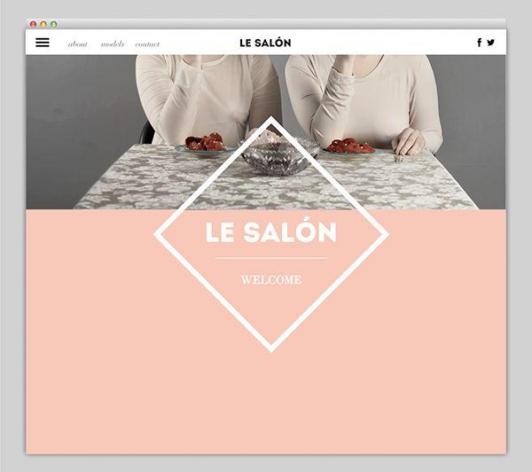 Website Design for a model agency called Le SALÓN.All photos were taken by Rotem Rachel Chen.