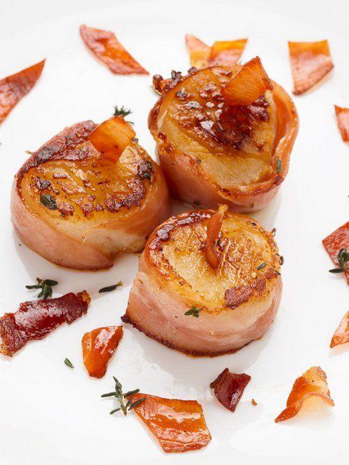 Vieiras envueltas en bacon te ense amos a cocinar recetas for Cocinar vieiras