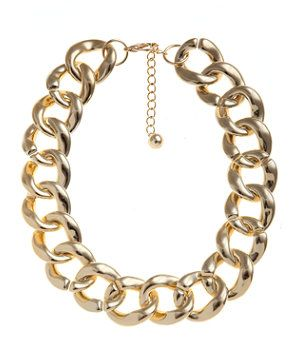 Gold (Gold) Gold Chunky Chain Necklace   269595593   New Look