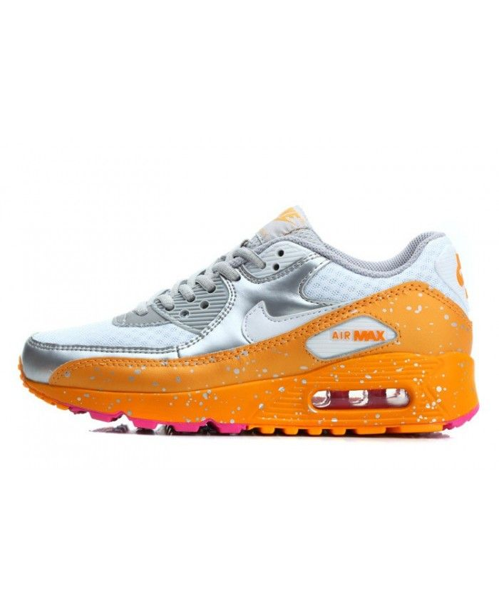 Nike Air Max 90 EssentiëLe Sterrenhemel Zilver Oranje Wit ...