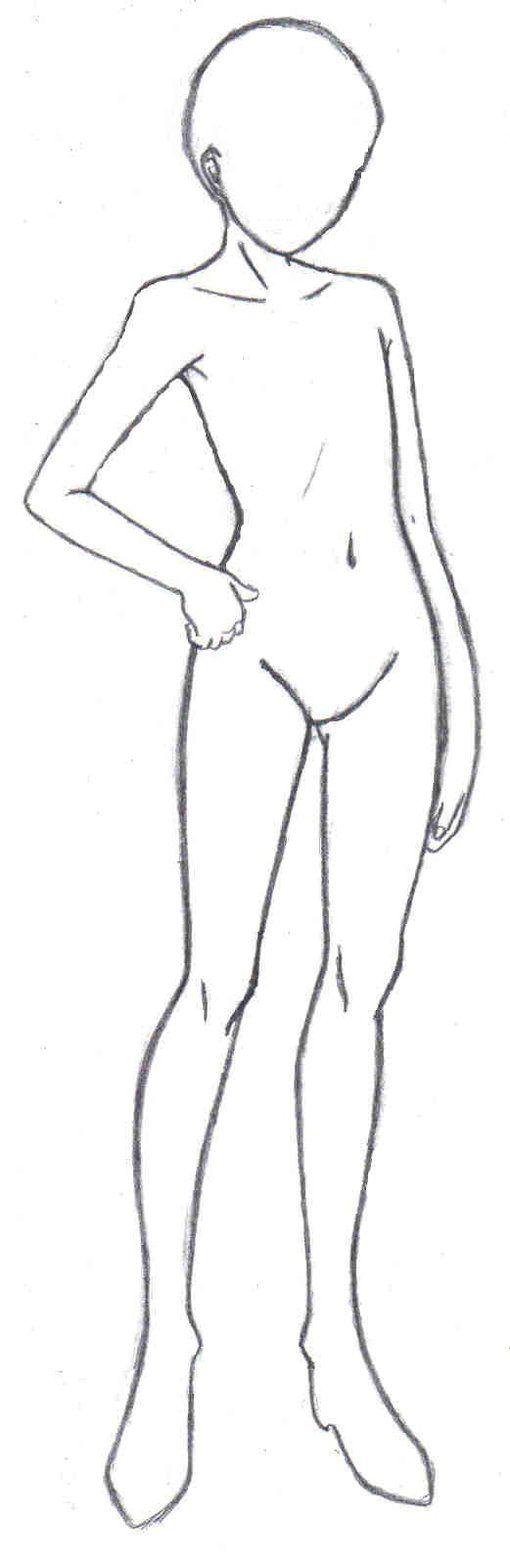Body Frame 1 Drawing Templates Body Drawing Manga Drawing