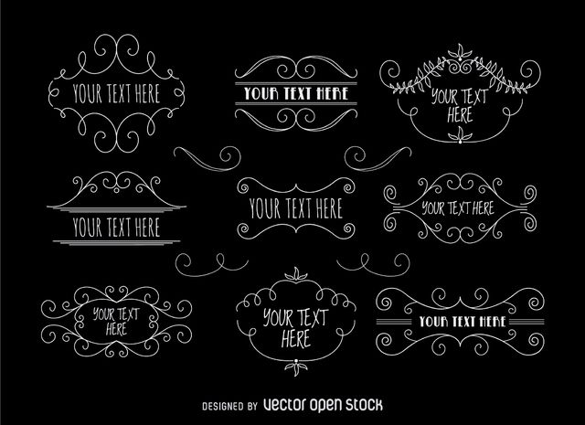 Hipster Label Set Free Vector Free Vector Graphics Labels Retro Sign