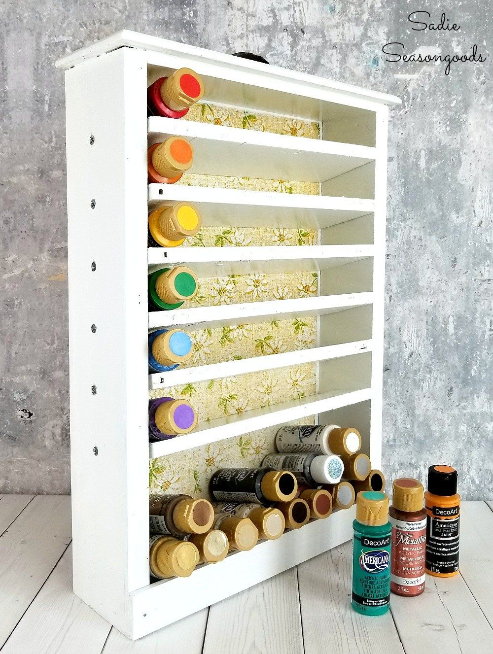Craft Paint Storage For Craft Room Organization With Wooden