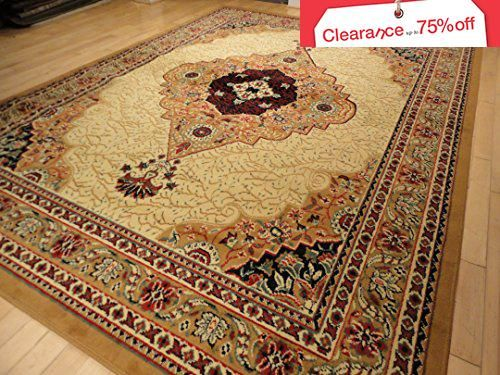 Large Traditional Beige 8x11 Rug Persian Area Rugs Tan And Cream 8x10 Living Room Bedroom Livingroom Carpet Dining
