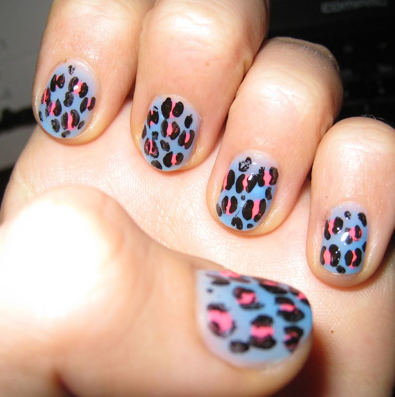 Leopard Nail Painting Tutorial | Pinterest | Leopard nails, Leopards ...
