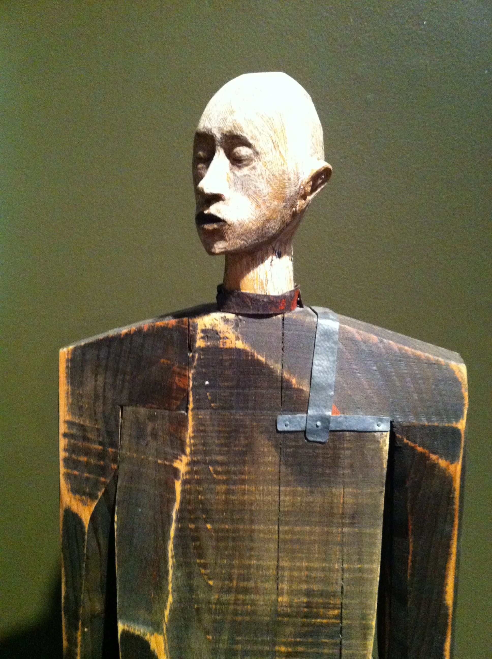 Joe Brubaker  Brubaker's works are primarily made from wood, bronze, steel and found objects.