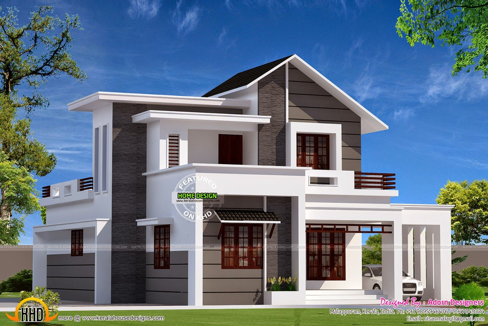 Contemporary Home Designs At Malappuram Part - 17: 1500-sq-ft-home.jpg (1600×1068)