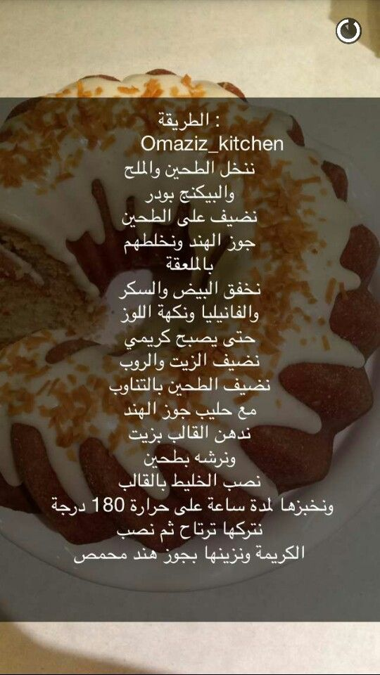 كيكه الزبادي Arabic Food Kitchen Recipes Cake Recipes