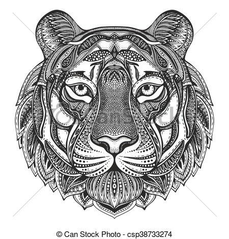 Tiger mandala coloring pages ~ Mandala tiger | How to draw hands, Floral doodle, Doodle ...