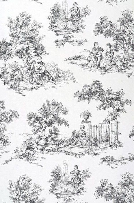Toile de Jouy | Wallpaper from the 70s