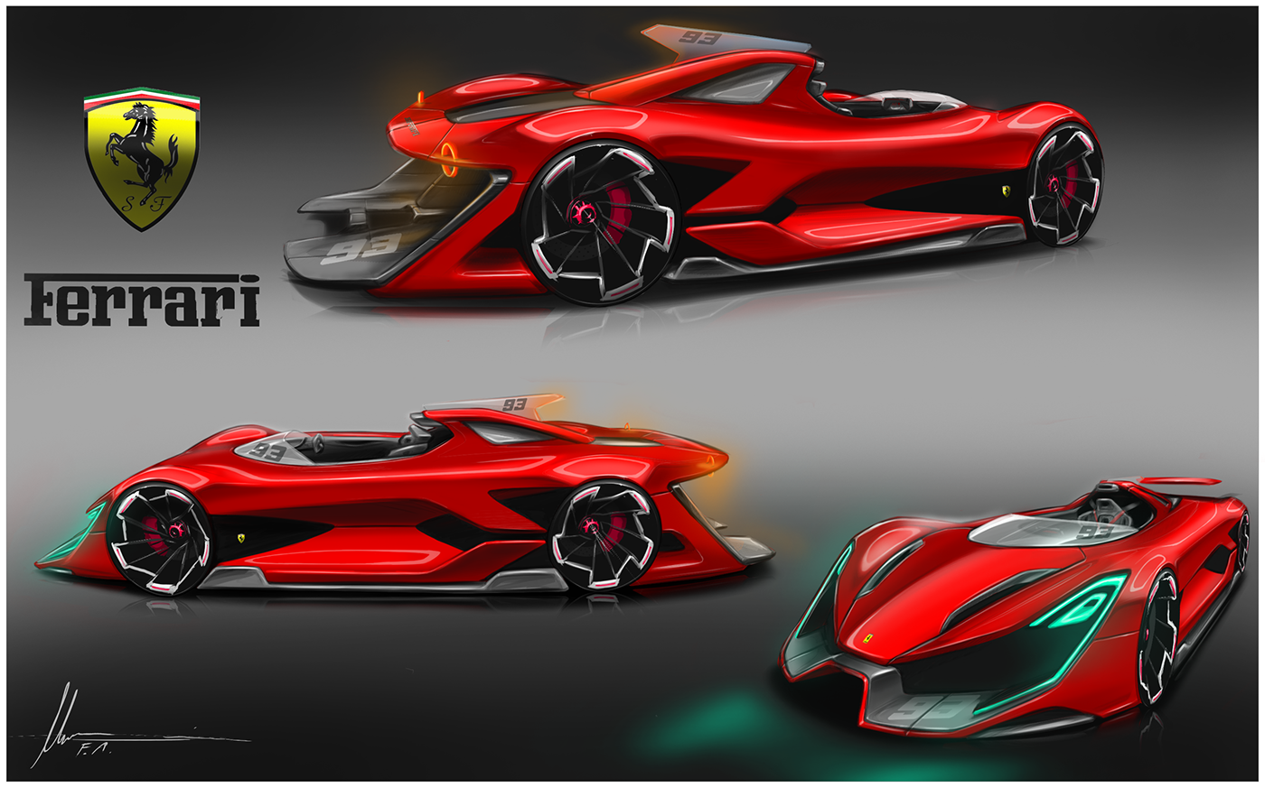 Ferrari Sketch On Behance