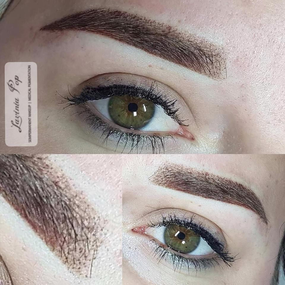 eyebrows before after / hairstroke / brows / powder ...