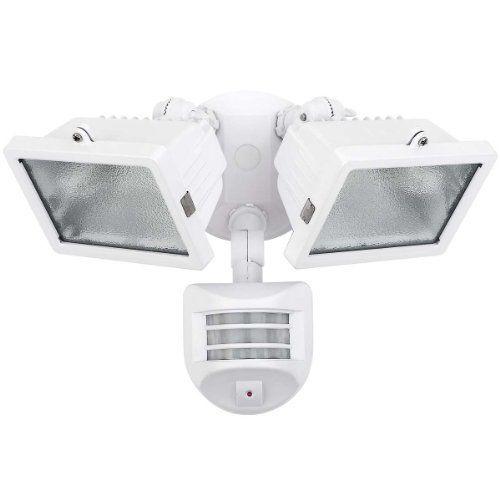 Globe Electric 79127 2 Lamp Halogen Motion Sensor Outdoor Light Fixture By Globe Electric 44 01 Glo Flood Light Fixtures Globe Electric Outdoor Flood Lights
