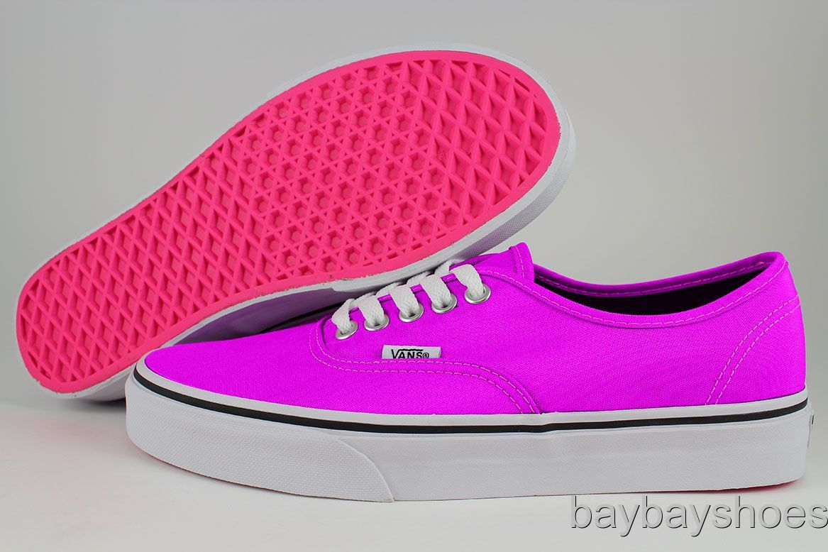 VANS AUTHENTIC NEON PURPLE PINK BLACK WHITE BRIGHT CLASSIC SKATE US WOMENS  SIZES on Wanelo 715dd182f