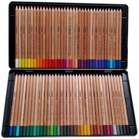 Boite De 72 Crayons De Couleur Lyra Rembrant Aquarell Crayons