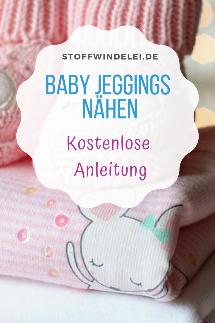 Baby-Wohlfühl-Jeans: kostenloses Schnittmuster & Nähanleitung Gr. 50-92 | Stoffwindelei.de #freebookschnittmuster