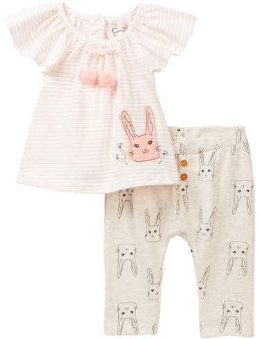 Jessica Simpson Baby Clothes Classy Jessica Simpson Bunny Top & Pant Set Baby Girls  Baby Girl 2018