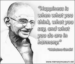 Happiness Is When What You Think Gandhi Meaning Google Search