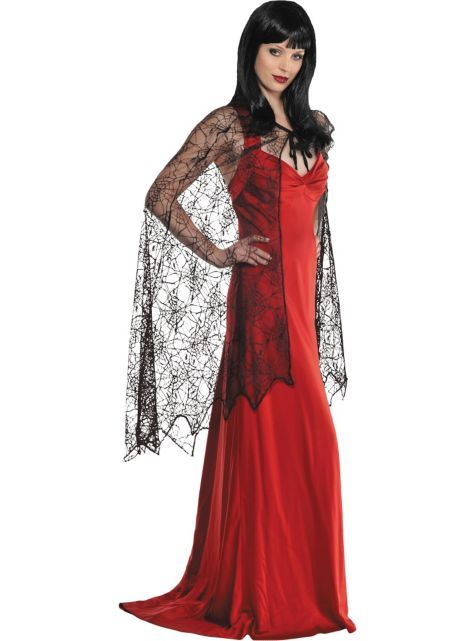 Spider Web Cape for Adults - Party City
