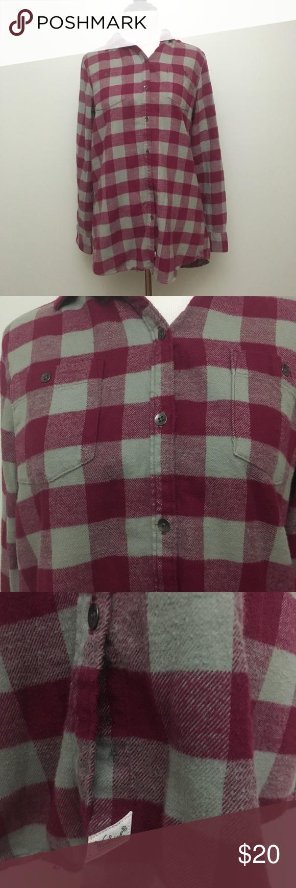 Woolrich flannel button down xs in my poshmark closet