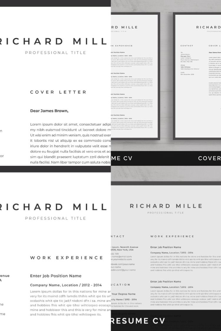 Resume/CV One page resume template, One page resume