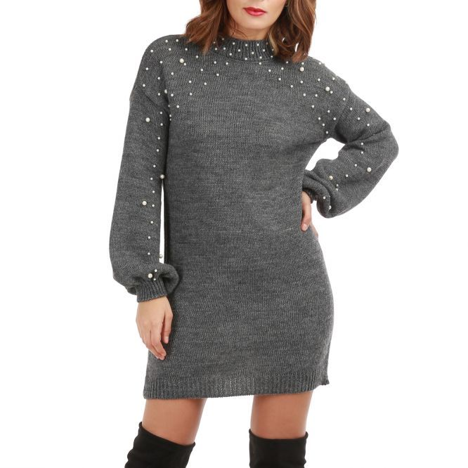robe pull grise fonce