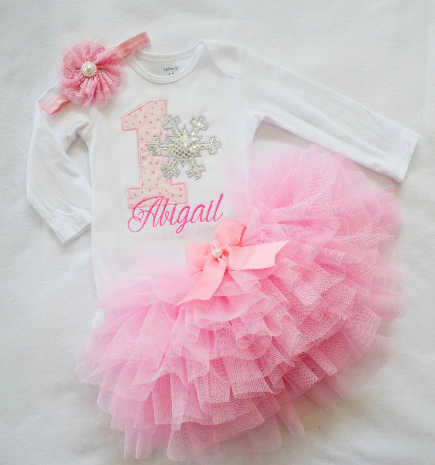 Baby Girl First Birthday Outfit personalized, girl 1