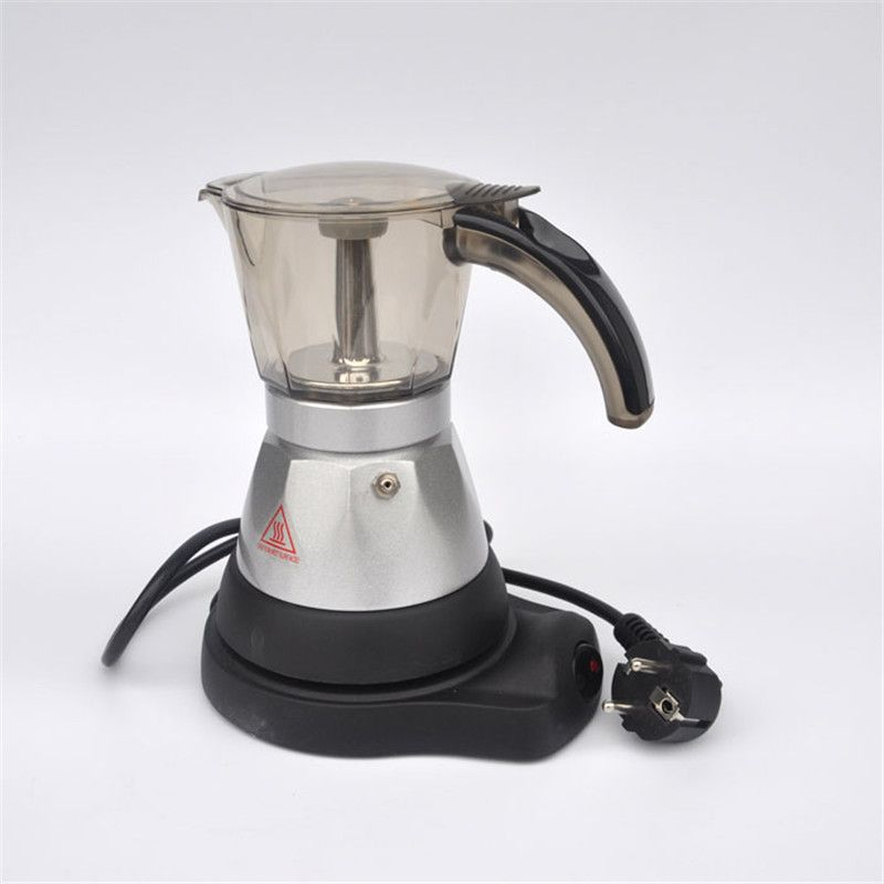 3 Cups Filter Cartridge Material Aluminium Electric Moka Pot Coffee Pots Percolators Tool