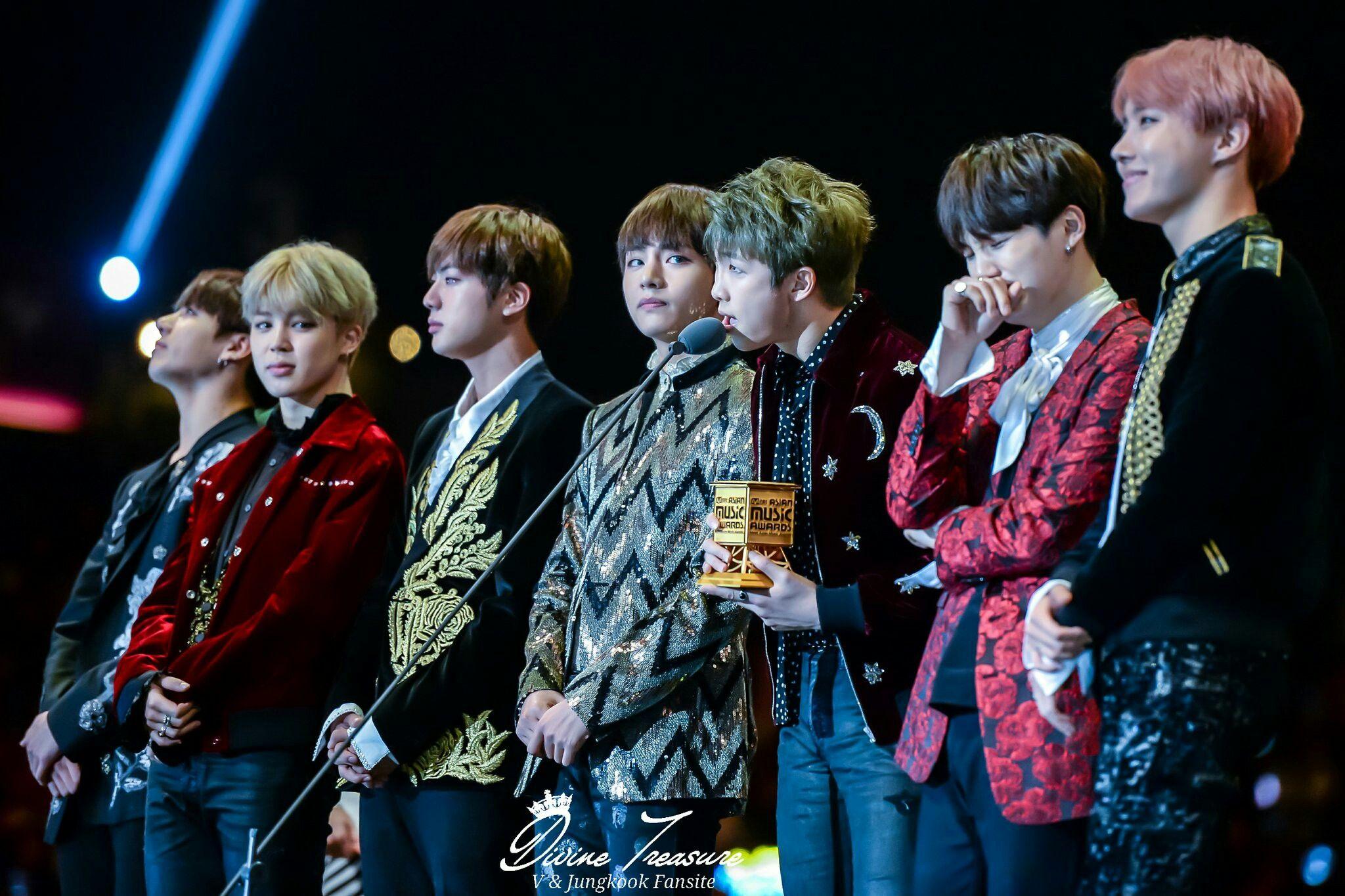 BTS at MAMA 2016 (161202) BTS 방탄소년단 Hình ảnh, Nhóm