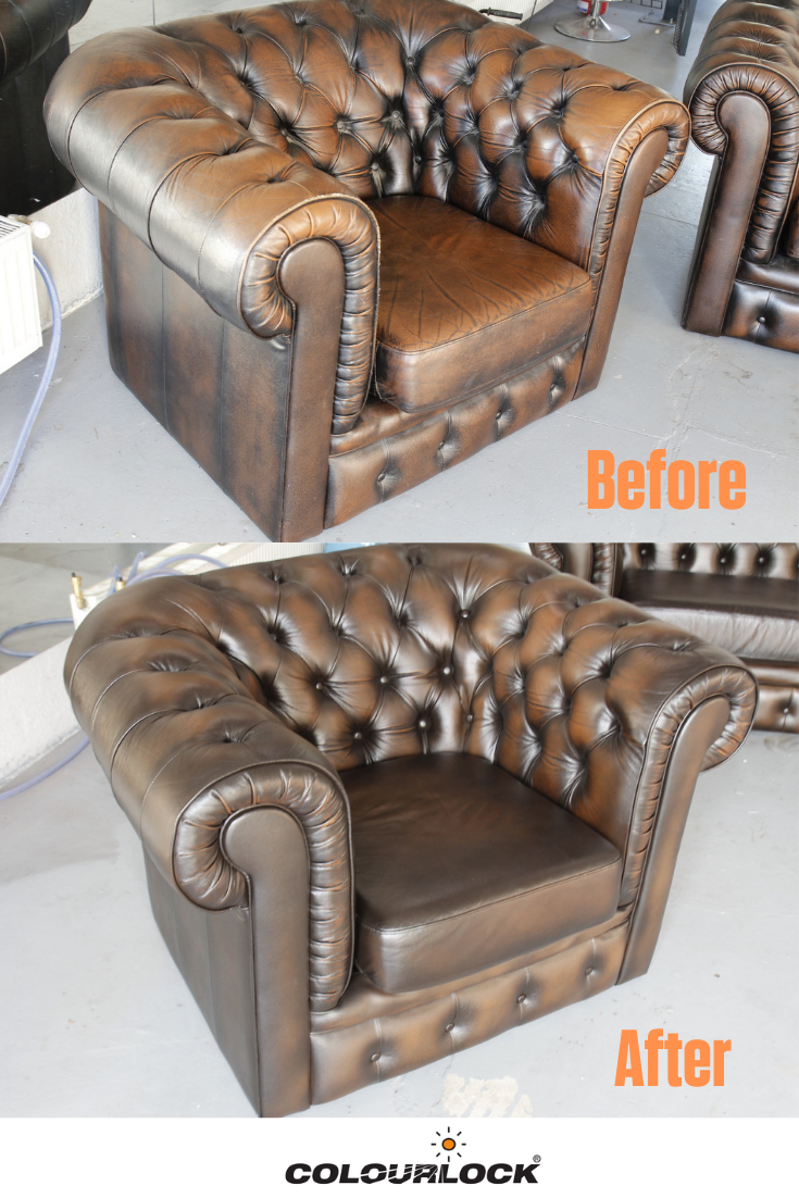 Chesterfield Before And After Diy Renovation Leather Sofa Chair
