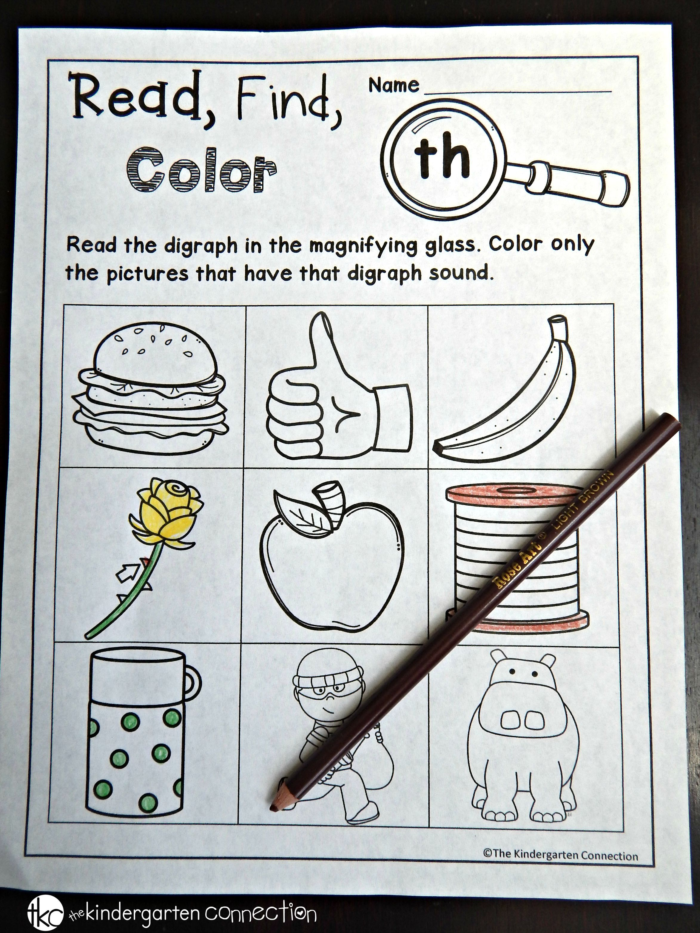 Printable Digraph And Cvce Activities Kindergarten Worksheets Printable Digraphs Worksheets Kindergarten Worksheets [ 3128 x 2346 Pixel ]
