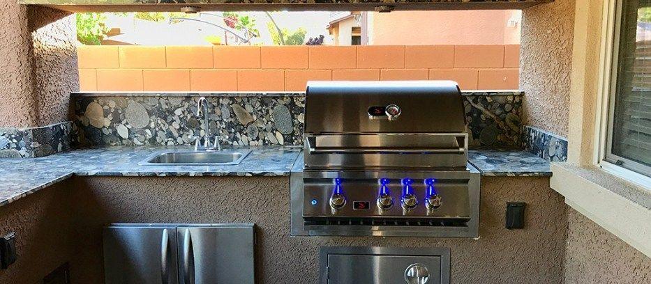 Of Las Vegas Nevada Outdoor Kitchen Outdoor Living Design Outdoor Backyard