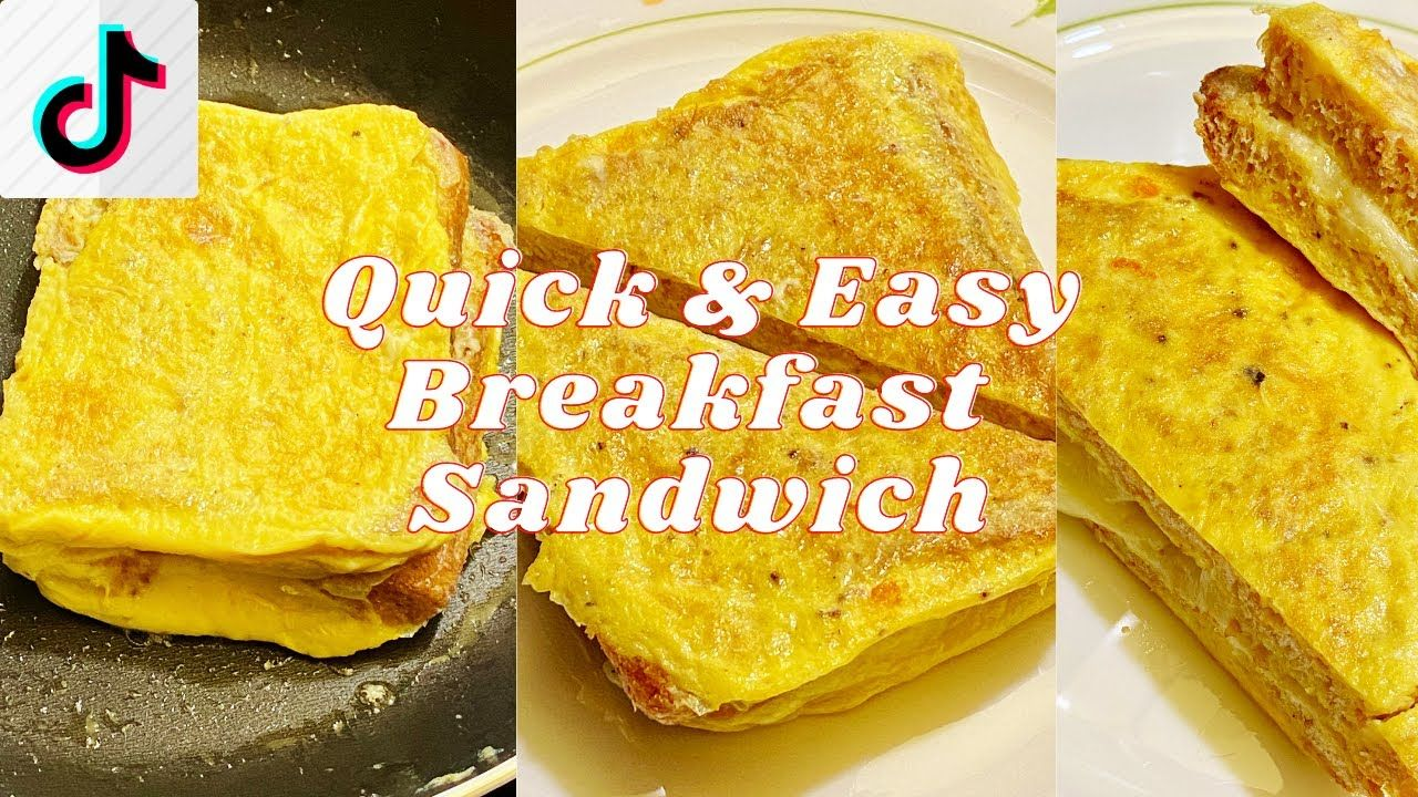 Tiktok Quick Easy Breakfast Sandwich In 2021 Easy Breakfast Sandwich Easy Breakfast Breakfast Sandwich Recipes