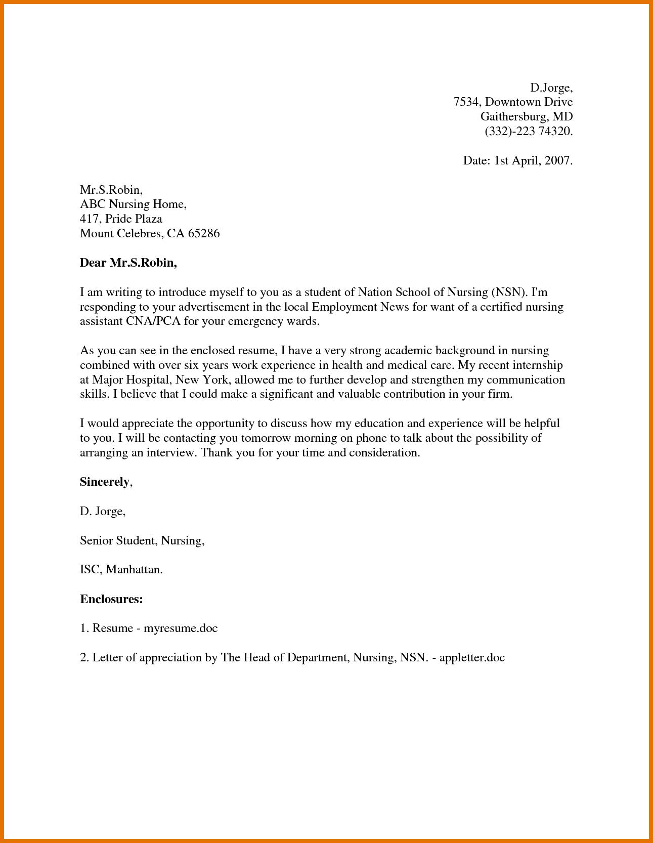Application Letter Sample Clerk Cover University Best Free