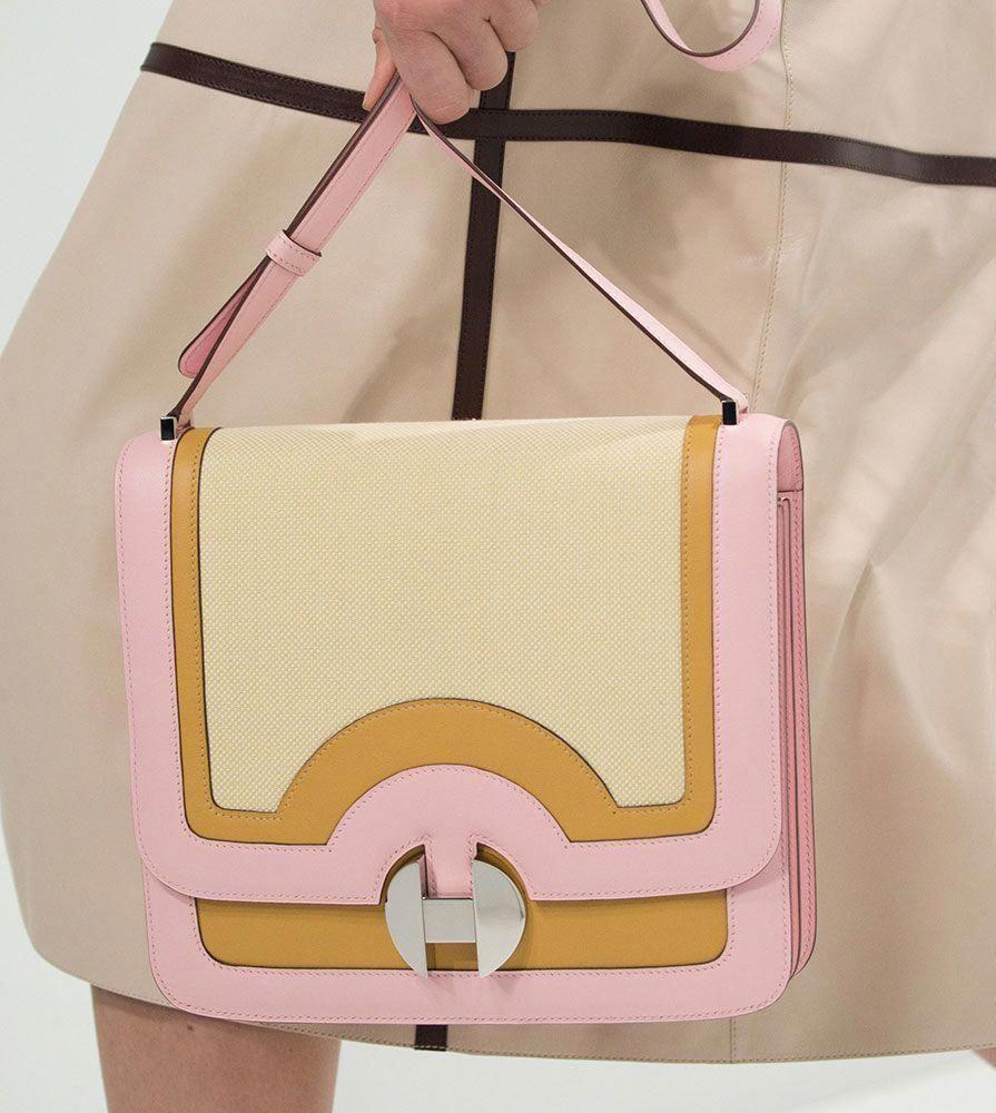 ad4f0124ac0f Hermès Focuses on Its Newest Shoulder Bag on the Spring 2018 Runway -  PurseBlog #Hermeshandbags